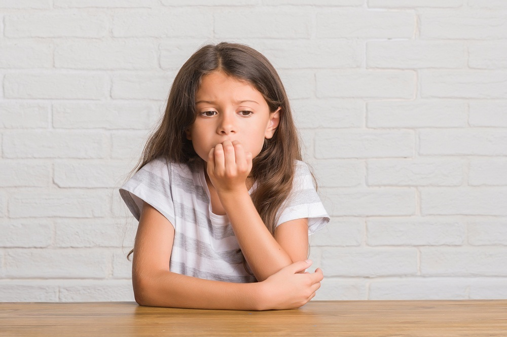 Anxious young girl