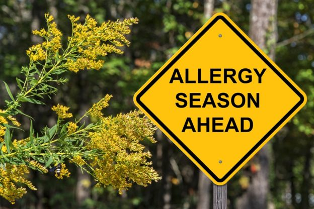 Allergy Caution Sign